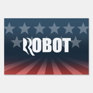 ROMNEY IS A ROBOT png Sign