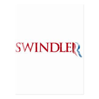 Romney is a Swindler.png Postcard