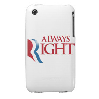 ROMNEY IS ALWAYS RIGHT iPhone 3 CASES