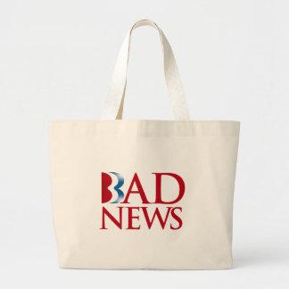 Romney is Bad News.png Tote Bag