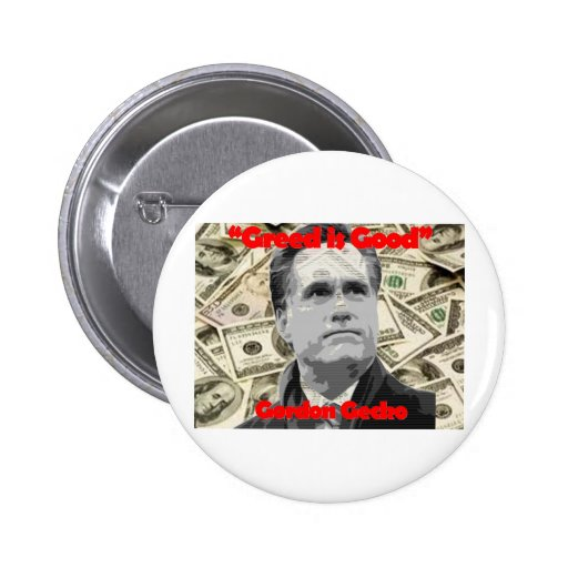 Romney is Gecko Pinback Buttons