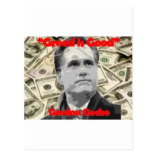 Romney is Gecko Postcard