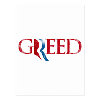 Romney is Greed.png Postcard