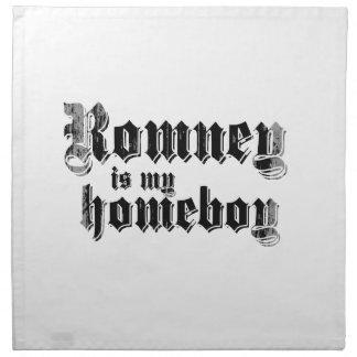 ROMNEY IS MY HOMEBOY PRINTED NAPKINS