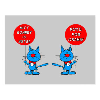 Romney is nuts vote for Obama Post Cards