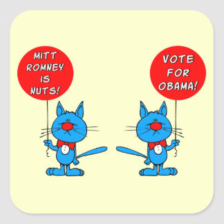 Romney is nuts vote for Obama Stickers