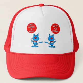 Romney is nuts vote for Obama Trucker Hat
