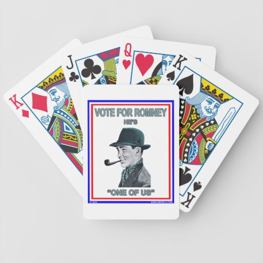 """Romney is """"One of Us"""" Bicycle Poker Cards"""
