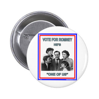 """Romney is """"One of Us"""" FNB Pinback Button"""