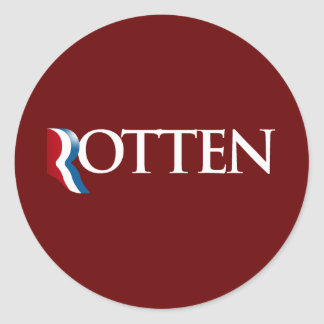 Romney is Rotten.png Classic Round Sticker