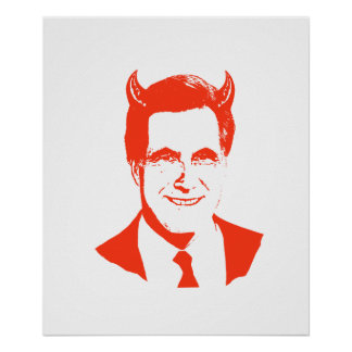 Romney is the Devil Posters