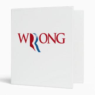 Romney is Wrong Binder