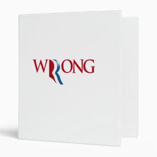 Romney is Wrong 3 Ring Binders