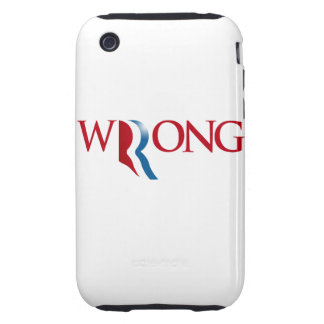 Romney is Wrong Tough iPhone 3 Covers