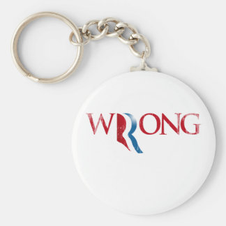 Romney is Wrong.png Basic Round Button Keychain