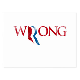 Romney is Wrong.png Postcard