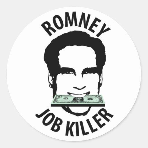Romney Job Killer Classic Round Sticker