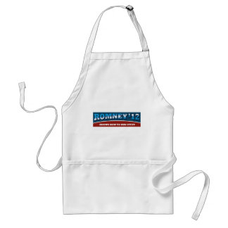Romney- Knows How To Run Stuff Adult Apron