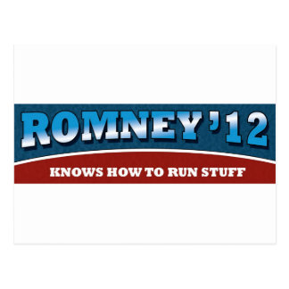 Romney- Knows How To Run Stuff Postcard