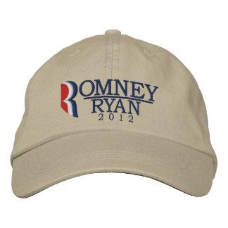 Romney/la letra R de Ryan 2012 enciende el gorra b Gorra De Beisbol