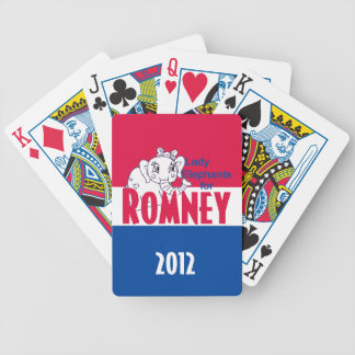 ROMNEY Lady Elephants Bicycle Playing Cards