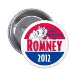 Romney LADY ELEPHANTS Button