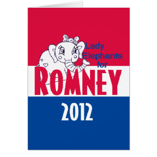 Romney LADY ELEPHANTS Card