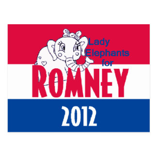 Romney LADY ELEPHANTS Postcard