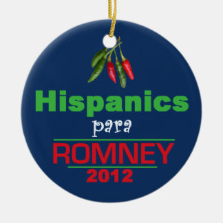 Romney Latinos Christmas Tree Ornaments