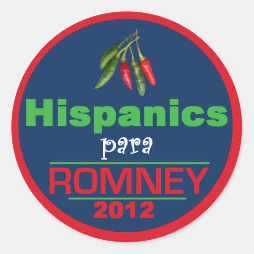 Romney Latinos Round Sticker