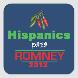 Romney Latinos Square Sticker