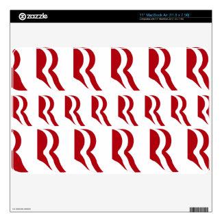 "ROMNEY LOGO PATTER RED.png Skins For 11"" MacBook Air"
