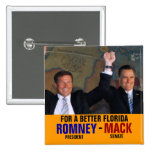 Romney-Mack 2012 Pinback Button