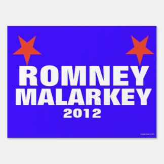 Romney Malarkey Yard Sign