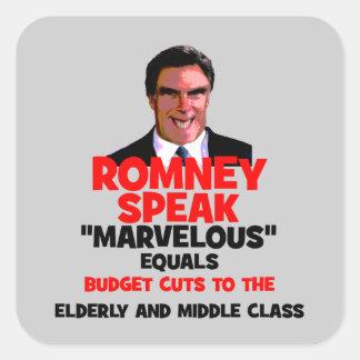 Romney maravilloso pegatina cuadrada