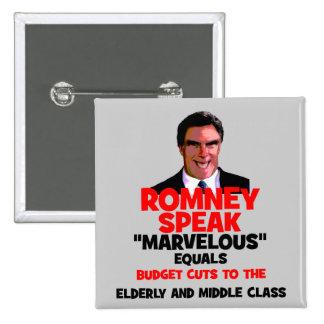 Romney maravilloso pin cuadrado