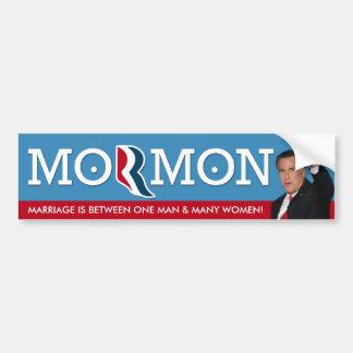 Romney - Marriage is 1 man and many women! Bumper Sticker