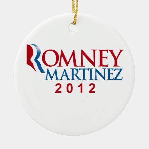 ROMNEY MARTINEZ 2012 OFFICIAL VP.png Christmas Ornament