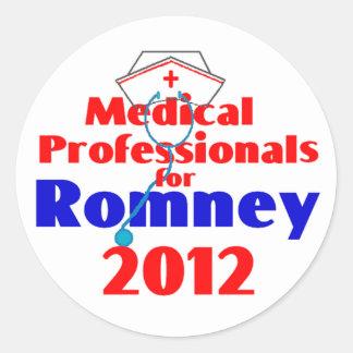 Romney MEDICAL PROFESSIONALS Classic Round Sticker