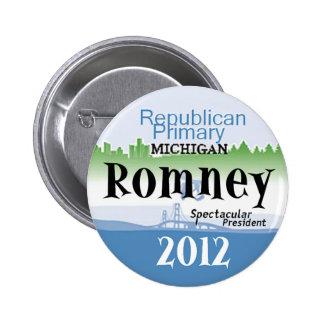 Romney Michigan Pin