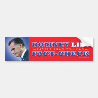 Romney miente Hecho-Control Bumpersticker Pegatina Para Auto
