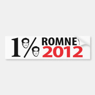 Romney, Mister One Percent Bumper Sticker