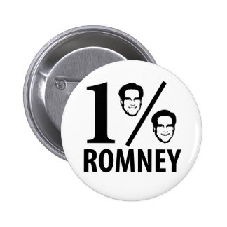 Romney, Mister One Percent Pinback Button