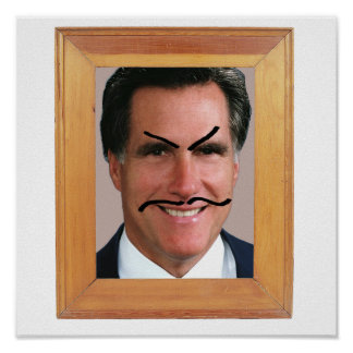 Romney Mustache.png Print