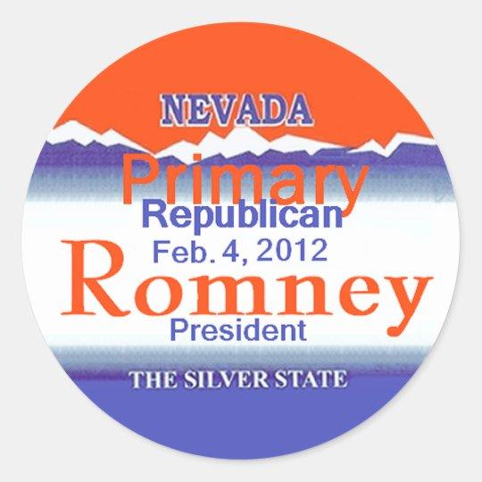 Romney Nevada Classic Round Sticker