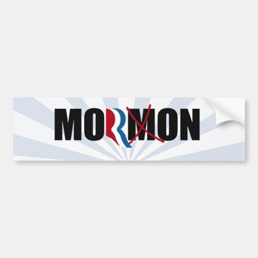 ROMNEY NO ES un MORMON.png Etiqueta De Parachoque