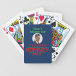 Romney no me culpa baraja cartas de poker