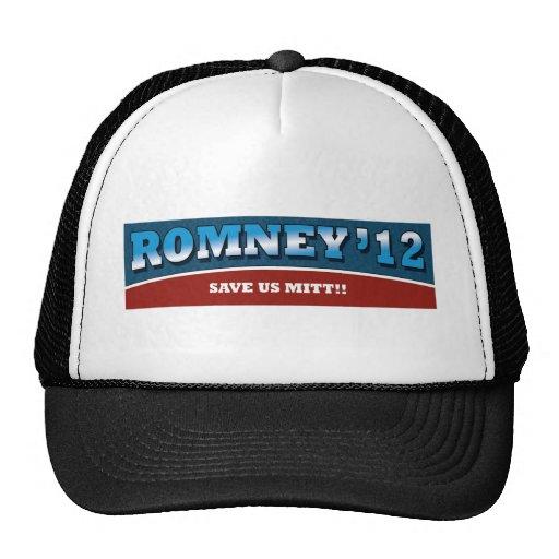 ¡Romney- nos ahorra mitón! Gorro De Camionero
