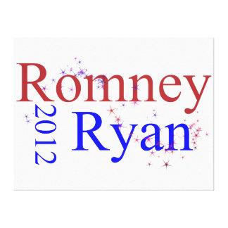 Romney/onda de la estrella de Ryan Impresiones En Lona