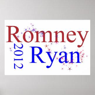Romney/onda de la estrella de Ryan Posters